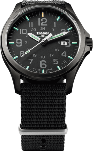 Traser P67 Officer Pro Gun Metal Black - NATO Strap