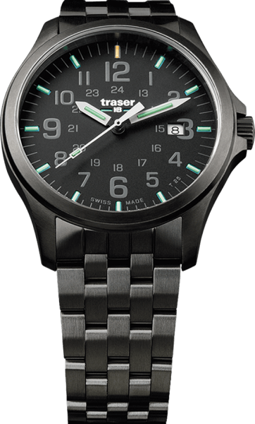 Traser P67 Officer Pro Gun Metal Black - Stainless Steel Bracelet
