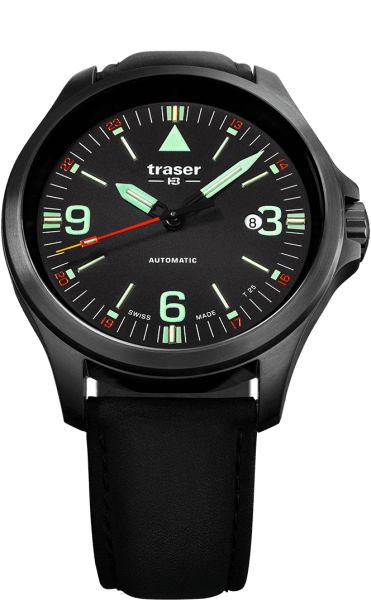 Traser P67 Officer Pro Automatic Black - Leather Strap